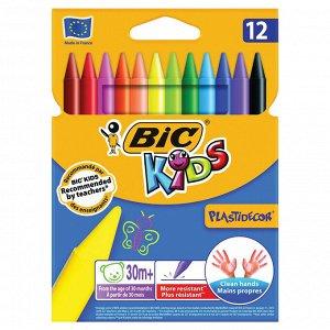 Мелки цветные BIC Kids Plastidecor Коробка x12