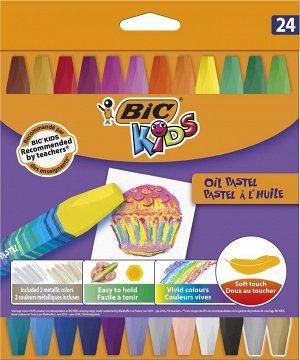 Мелки цветные BIC Kids Oil Pastel Коробка x24