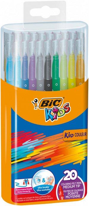Фломастеры цветные BIC Kids Kid Couleur Бокс х20
