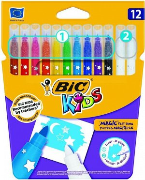 Фломастеры цветные BIC Kids Magic Felt Pens Коробка x12