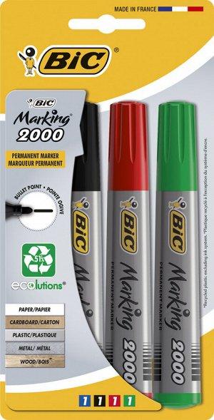 Маркер перманентный BIC Marking 2000 Ecolutions Блистер x4 синий, черный, красный, зеленый