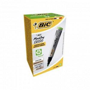 Маркер перманентный BIC Marking 2000 Ecolutions  зеленый