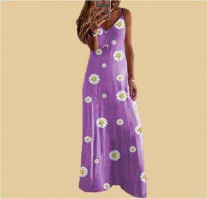 Платье Платье. Материал: Полиэстер. Размер: (бюст, длина см) S (80-90, 126), M (85-95, 127), L (90-100, 128), XL (95-105, 129), 2XL (100-110, 130), 3XL (105-115, 131), 4XL (110-120, 132), 5XL (115-125