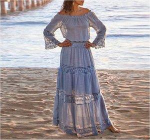 Платье Платье. Материал: Полиэстер. Размер: (бюст, длина см) S (84, 131), M (88, 133), L (94, 135), XL (100, 137).