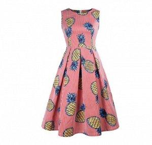 Платье Платье. Материал: Смесь хлопка-Полиэстер. Размер: (бюст, длина см) S (82, 103), M (86, 104), L (90, 105), XL (94, 106), 2XL (98, 107), 3XL (102, 108).
