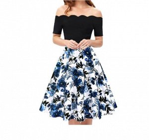 Платье Платье. Материал: Полиэстер. Размер: (бюст, длина см) S (82, 90), M (87, 92), L (92, 94), XL (97, 96), 2XL (102, 98).