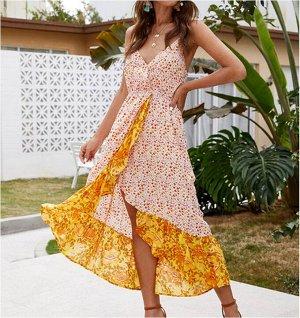 Платье Платье. Материал: Полиэстер. Размер: (бюст, длина см) S (76, 128), M (80, 132), L (86, 138), XL (92, 144).