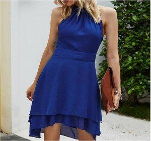 Платье Платье. Материал: Полиэстер. Размер: (бюст, длина см) S (88, 95), M (92, 96), L (97, 97), XL (103, 98), 2XL (109, 99), 3XL (115, 100).