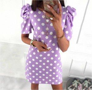 Платье Платье. Материал: Полиэстер. Размер: (бюст, длина см) S (92, 74), M (96, 76), L (100, 78), XL (104, 80).