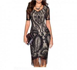 Платье Платье. Материал: Полиэстер. Размер: (бюст, длина см) S (87, 117), M (92, 118), L (97, 118), XL (102, 120), 2XL (107, 121).