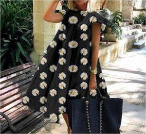 Платье Платье. Материал: Полиэстер. Размер: (бюст. длина см) S (92, 100), M (96, 101), L (100, 102), XL (104, 103), 2XL (108, 104).