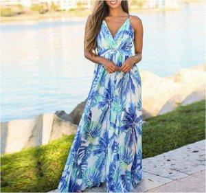 Платье Платье. Материал: Полиэстер. Размер: (бюст. длина см) S (76-84, 135), M (80-86, 135), L (86-92, 137), XL (92-98, 137), 2XL (98-104, 139).