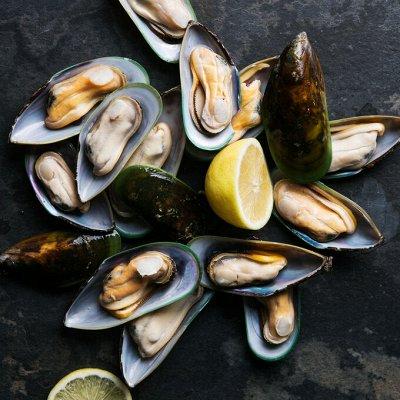 Океан вкуса! Икра! Рыбные стейки! Фарш нерки!  — Мидии — Свежие и замороженные