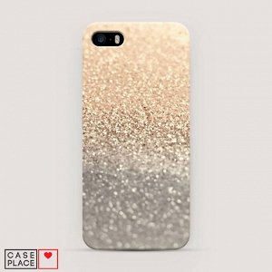 Пластиковый чехол Песок золотой рисунок на iPhone 5/5S/SE