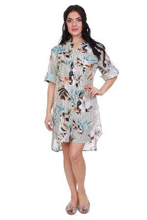 Рубашка-туника Jedidah Цвет: Мультиколор,Зеленый. Производитель: Ганг