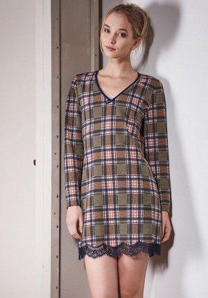 Платье Eсonom Цвет: Хаки. Производитель: Rebecca & Bross