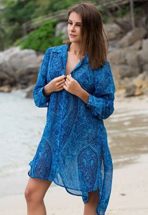Рубашка Riviera Цвет: Голубой. Производитель: Mia-Amore