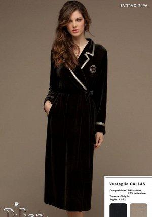 Домашний халат Claramae Цвет: Черный. Производитель: DiBen