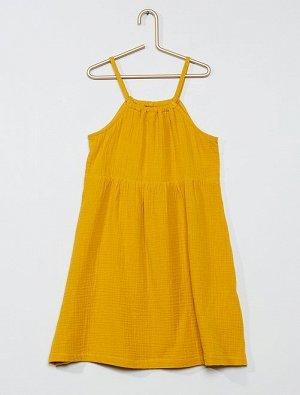 Платье из хлопка газового переплетения