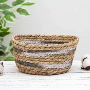 Корзина для хранения плетёная Доляна «Миа», 23?23?11 см