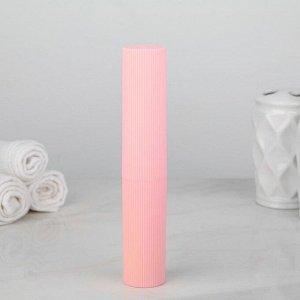 Футляр для зубной щётки и пасты, 20 см, цвет МИКС