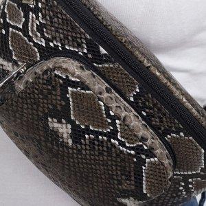Сумка поясная, отдел на молнии, наружный карман, цвет коричневый