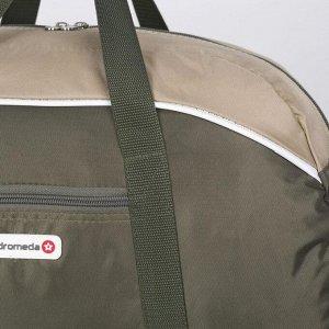 Сумка спортивная, отдел на молнии, наружный карман, цвет хаки/бежевый