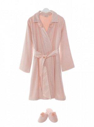 Банный комплект с халатом Trish Цвет Розовый.