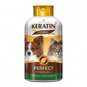 Rolf Club Шампунь Keratin+ Perfect для всех типов шерсти кошек и собак 400мл