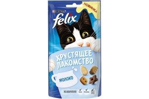 Purina Felix хрустящее лакомство для взрослых кошек с молоком, 60г