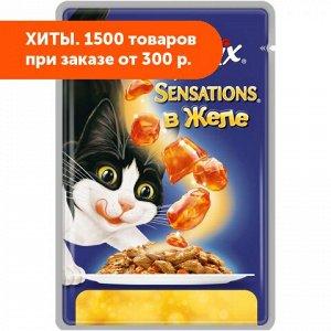 Felix Sensations влажный корм для кошек Говядина+Томат Желе 85гр пауч АКЦИЯ!