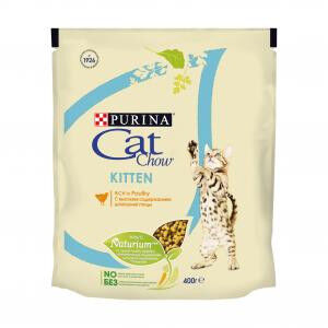 Cat Chow Kitten сухой корм для котят Птица 400гр АКЦИЯ!
