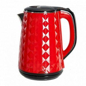 Чайник электрический 2000 Вт, 1,8 л ВАСИЛИСА ВА-1032, двухслойный корпус, красный