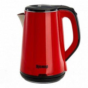 Чайник электрический 1500 Вт, 1,8 л ЯРОМИР ЯР-1059, двухслойный корпус, красный