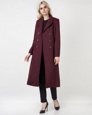 Пальто жен. (191718) темно-бордовый