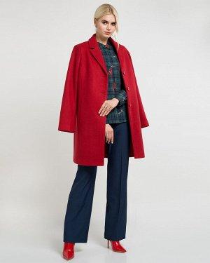 Пальто жен. (191557) темно-красный