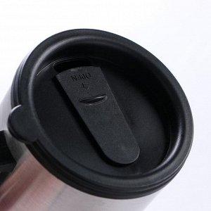"""Термокружка автомобильная """"Вильбон"""" 450 мл, от прикуривателя, металлик, 13х16 см"""