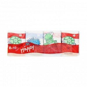 Платочки бумажные носовые трехслойные звери мини, bella baby happy, 08 x10шт