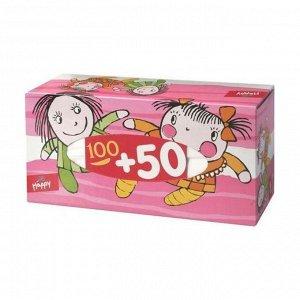 Платочки бумажные универсальные двухслойные №1, bella baby happy 100+50%