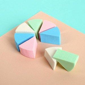 Набор спонжей для нанесения косметики, 7 ? 3 см, 8 шт, цвет разноцветный