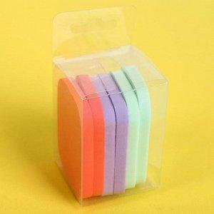 Набор спонжей для нанесения косметики, 5,4 ? 4,3 ? 0,6 см, 6 шт, цвет МИКС