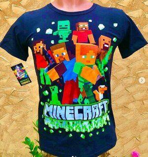 Светящаяся футболка «Minecraft» черная