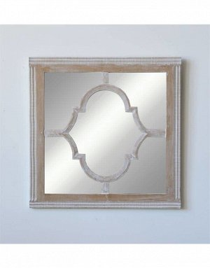 Зеркало настенное DA9008 квадратное в деревянной раме 58cm*58cm