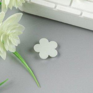"""Декор для творчества пластик """"Цветок"""" жемчужный набор 20 шт 1,7х1,7 см"""