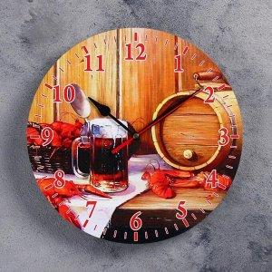 """Часы настенные, серия: Интерьер, для бани """"Банный набор"""""""