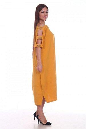 Платье Размеры: 48, 50, 52, 54; Цвет: Желтый