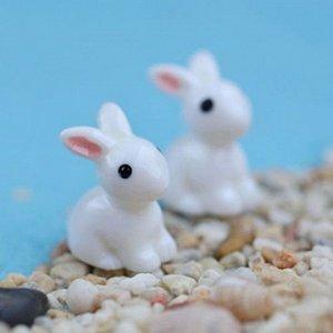 Фигурка декоративная мини Кролик с розовыми ушками 14мм 1шт