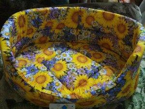 Лежанка №2, 43 х 30 х 16 см, микс цветов