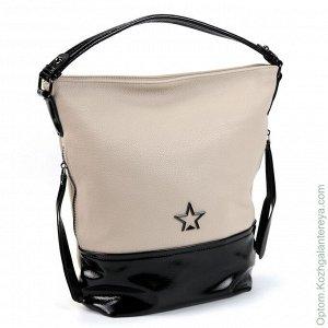 Женская сумка цвет бежевый