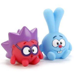 """Набор из 2-х игрушек для ванной """"капитошка"""" смешарики (крош и ежик) в сетке"""